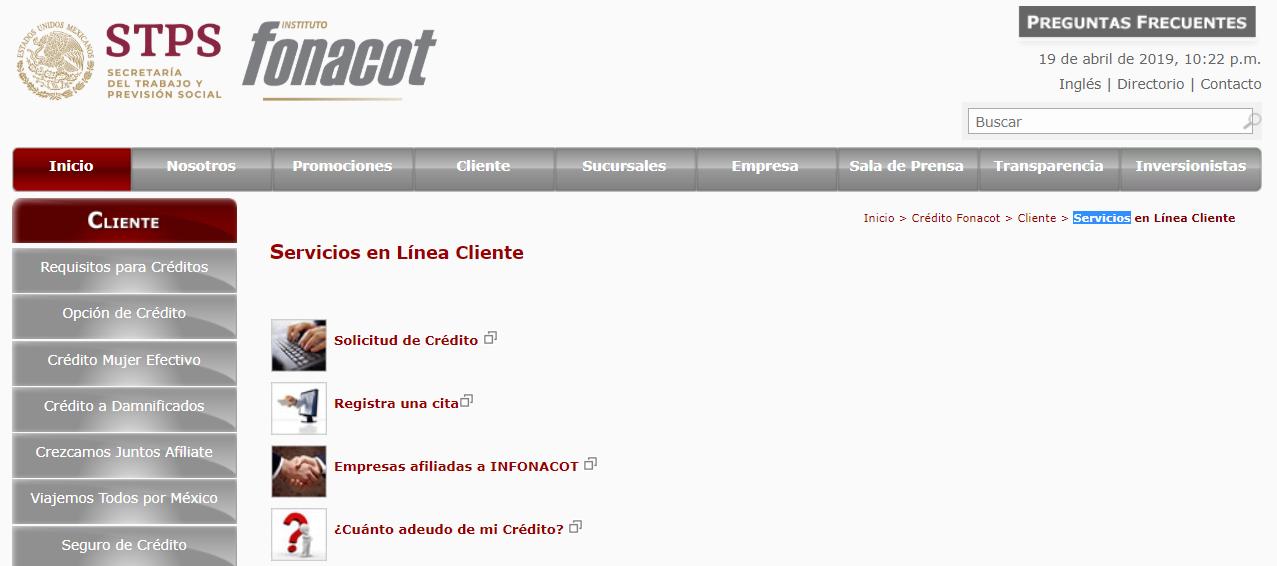 Consultar afiliados Fonacot