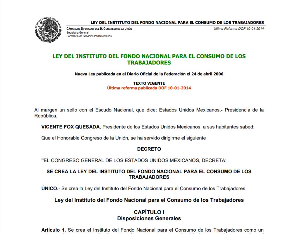 Ley Fonacot México